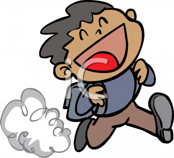 1617 5454 Running Boy Excited To Go Back To School Clipart Image Jpg