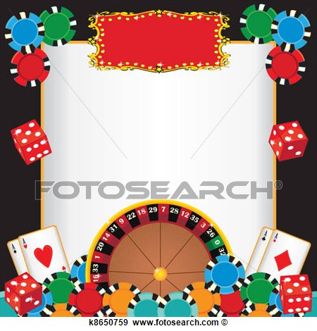 Art   Casino Night Party Event Invitation  Fotosearch   Search Clipart