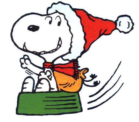 Clipart   Clipart Kerst Snoopy Animaatjes 12