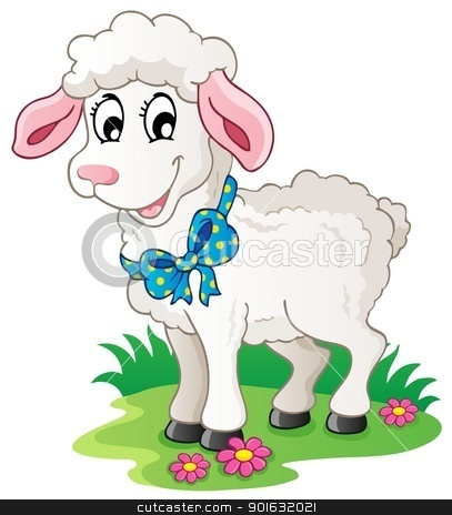 Cute Cartoon Lamb Stock Vector Clipart Cute Cartoon Lamb   Vector
