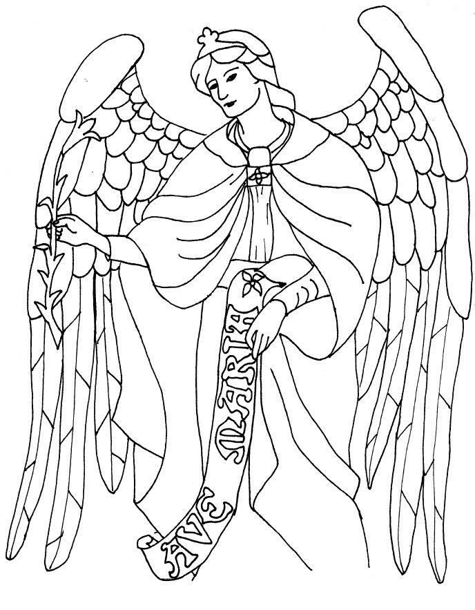 coloring pages of guardian angels - photo#12