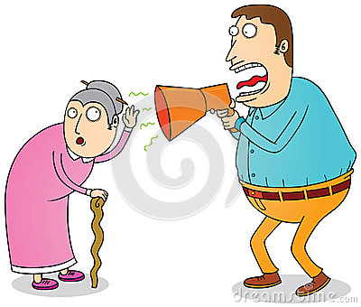 Hard Of Hearing Clipart Deaf Grandma 29310006 Jpg