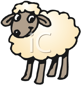 Royalty Free Sheep Clip Art Farm Animal Clipart