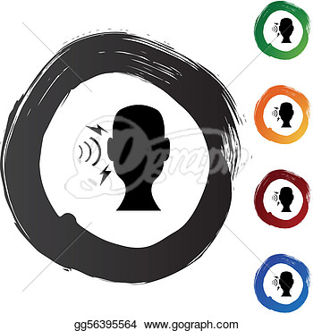 Stock Illustration   Hearing Loss  Clipart Drawing Gg56395564