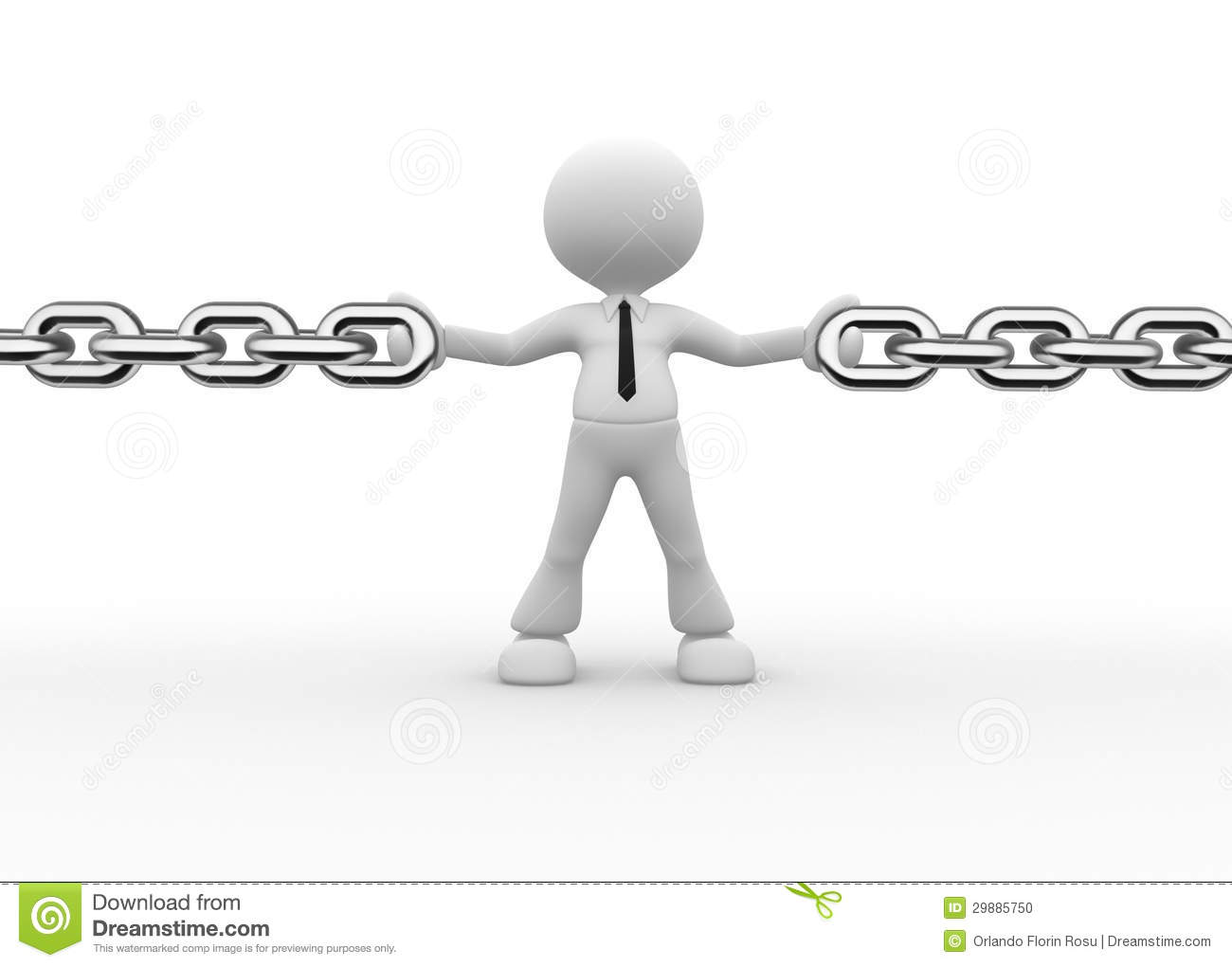 how to make a person chain