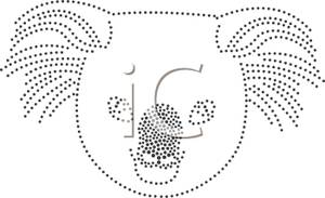 Black And White Dotted Lines Of A Koala Clip Art Image