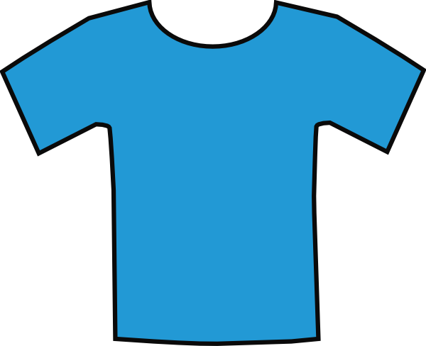 Blue T Shirt Clip Art  Png And Svg
