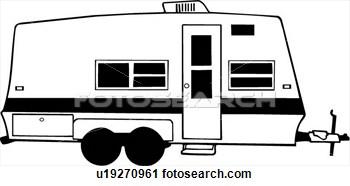 Luxury Camper Trailer Clipart  Clipart Kid