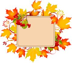 Colorful Clip Art For The Autumn Season  Autumn Sign With No Text More