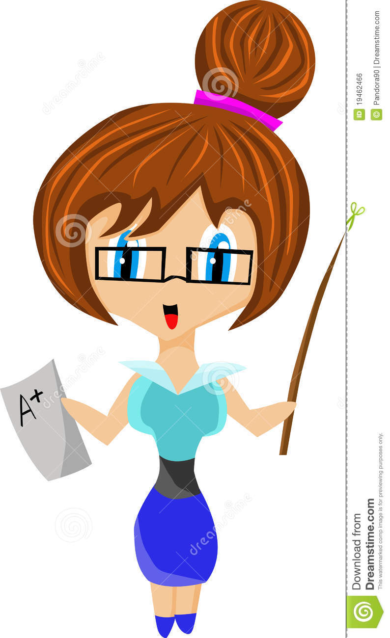 Cute Teacher Royalty Free Stock Image   Image  19462466
