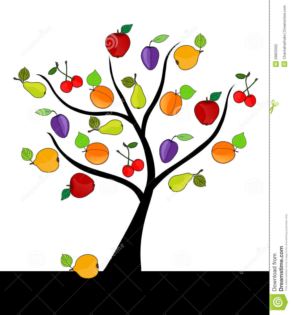 Fruit Tree Clipart - Clipart Suggest