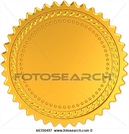 Golden Award Medal Blank Seal  Fotosearch   Search Eps Clipart