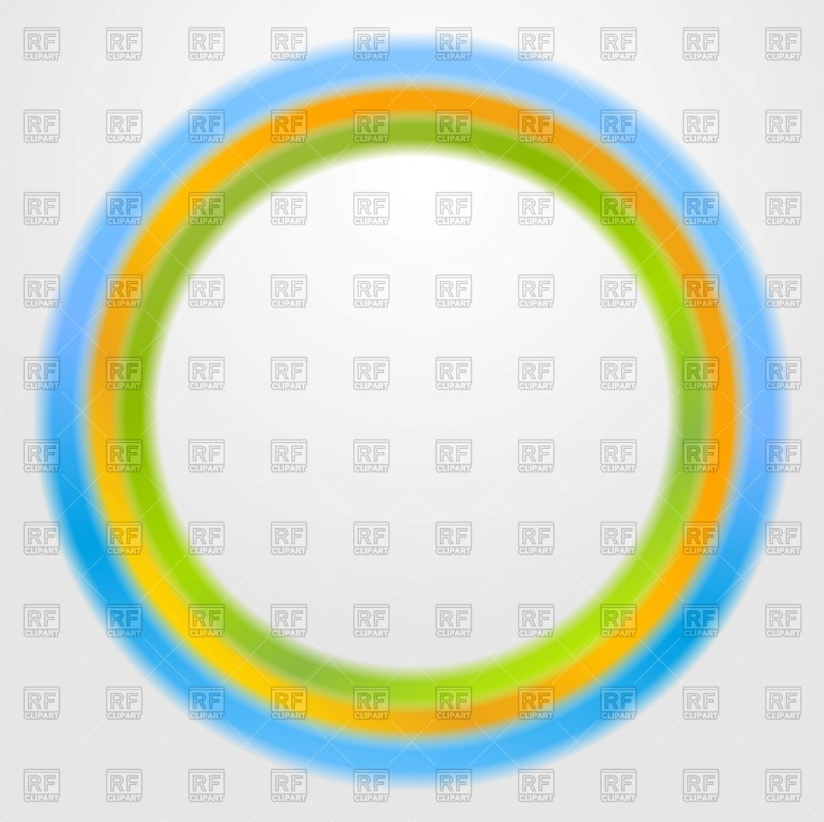 Green Yellow Blue Circle   Round Frame 55306 Download Royalty Free