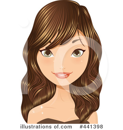 Hair Clipart  441398   Illustration By Melisende Vector