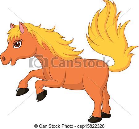 Cute pony clipart