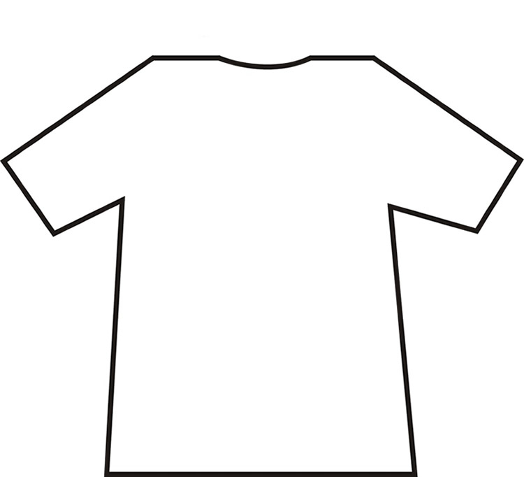 Print Out A Copy Of This Blank T Shirt  Just Click On It