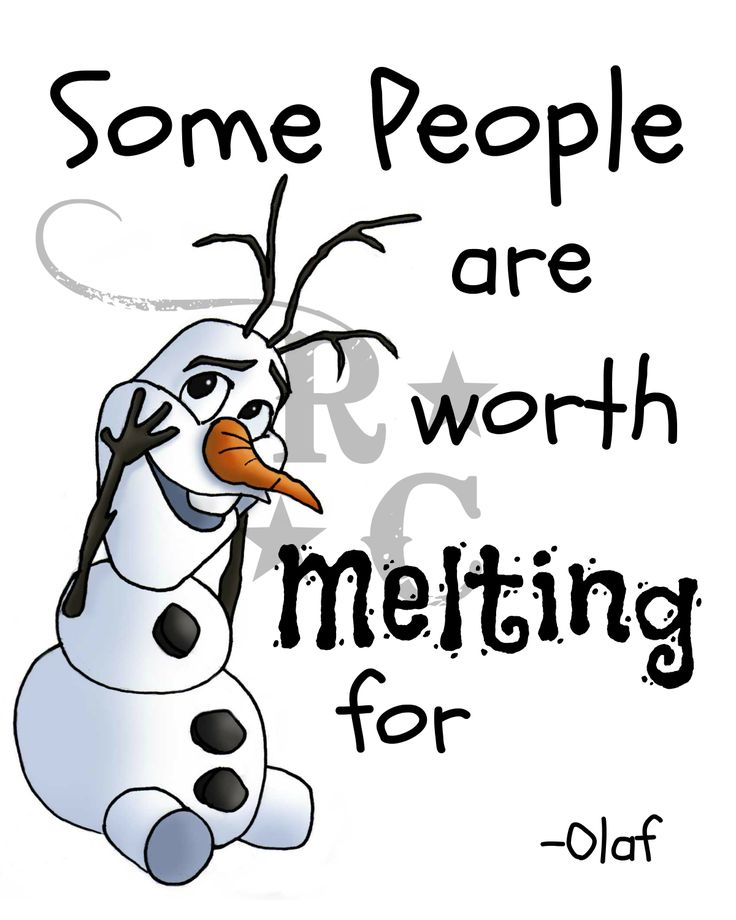 Printable 8 X 10 Digital File Some People Are Worth Melting For Olaf