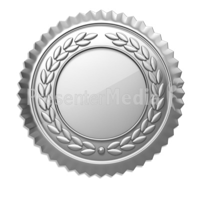 Silver Seal   Signs And Symbols   Great Clipart For Presentations