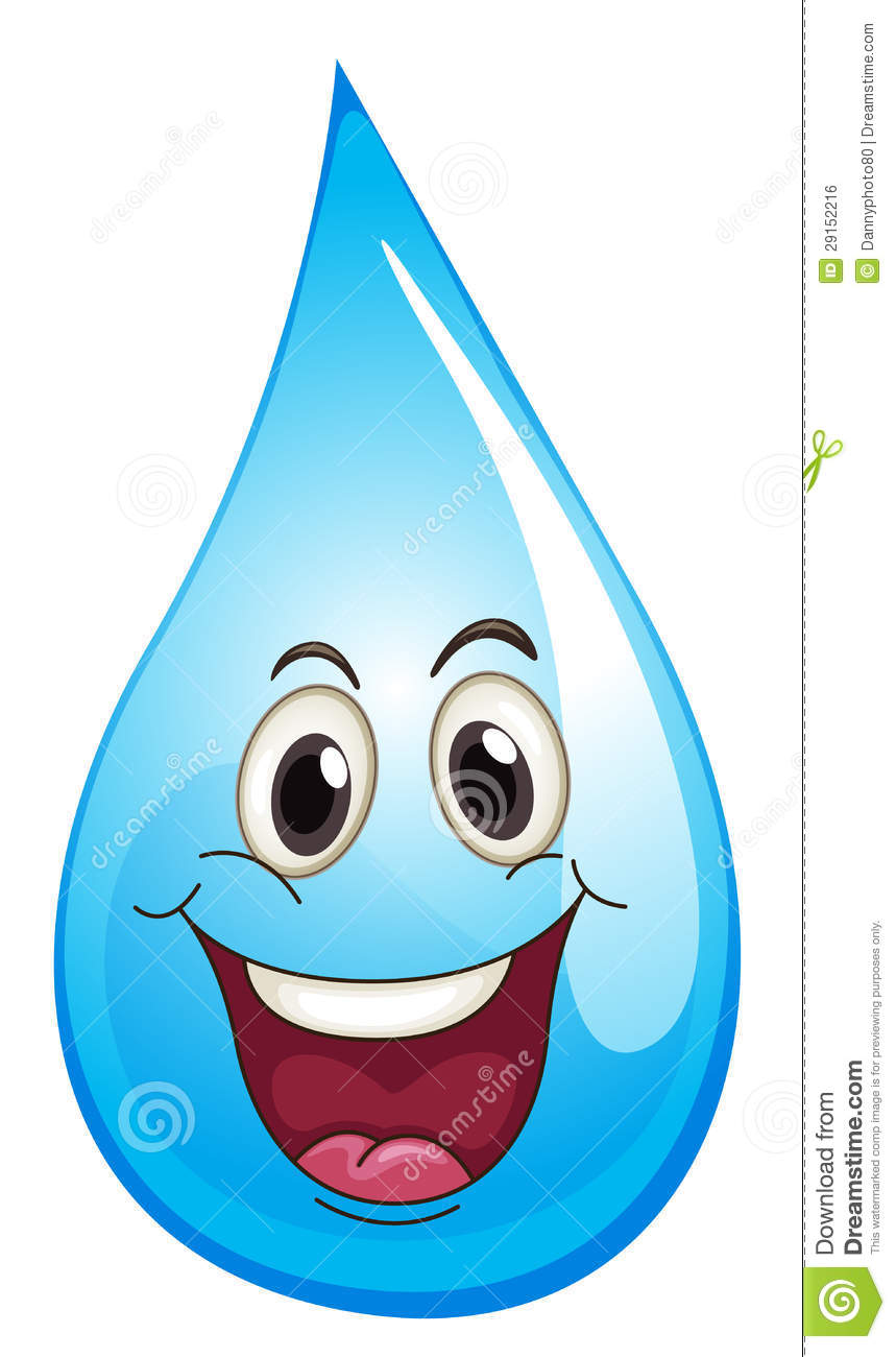 Water drop clipart clipart suggest - Clipart visage ...