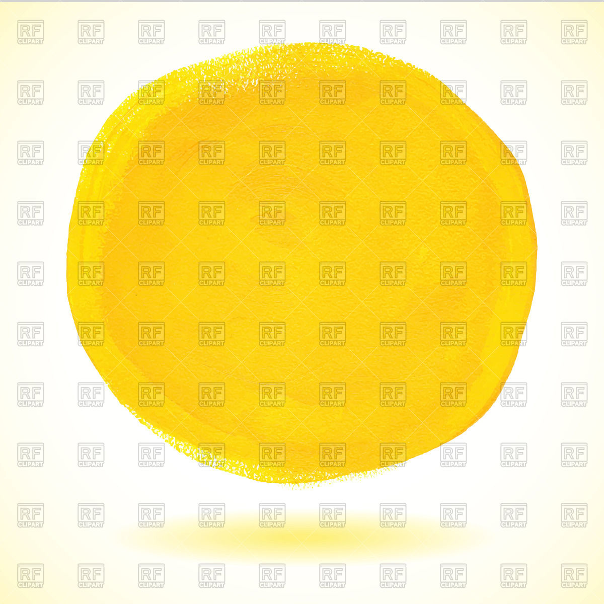 Yellow Watercolor Circle 46901 Download Royalty Free Vector Clipart