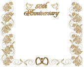 50th Wedding Anniversary   Clipart Graphic