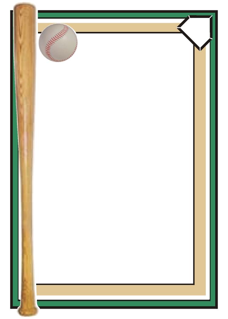 Baseball Clipart Border