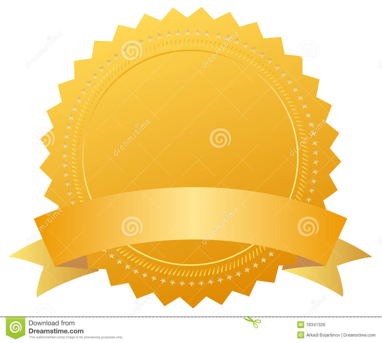 Blank Award Golden Medal Royalty Free Stock Image   Image  18341326