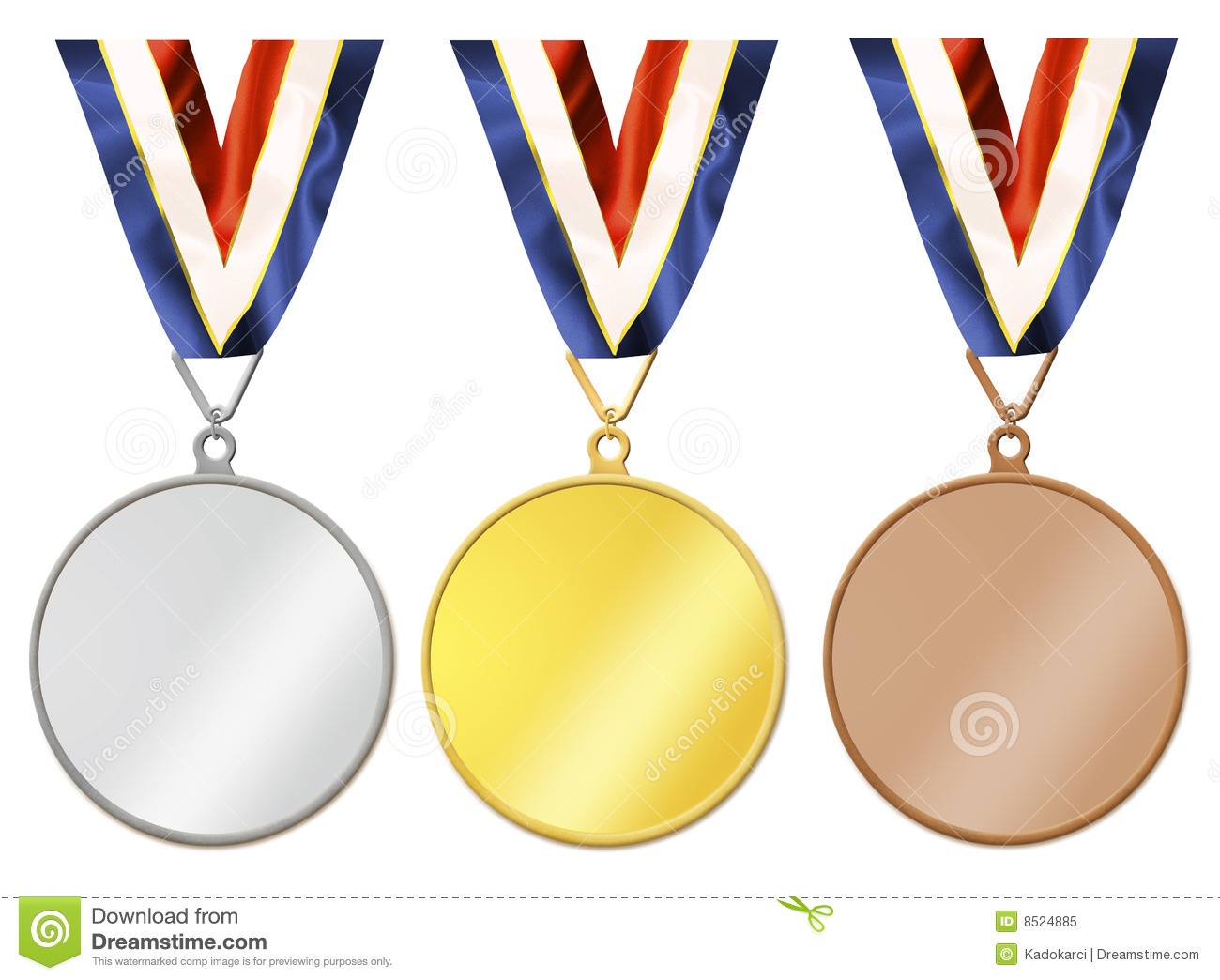 Blank Medals Royalty Free Stock Photo   Image  8524885