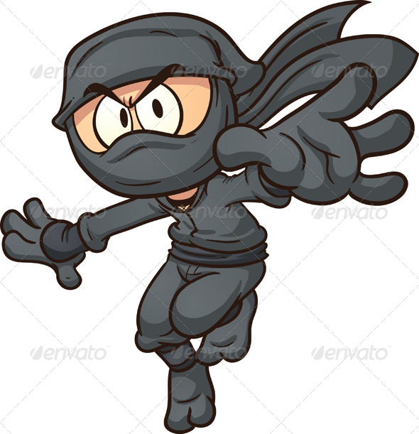 Cartoon Ninja Clipart - Clipart Kid