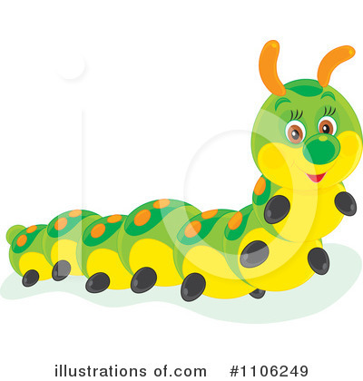 Caterpillar Clipart  1106249 By Alex Bannykh   Royalty Free  Rf  Stock
