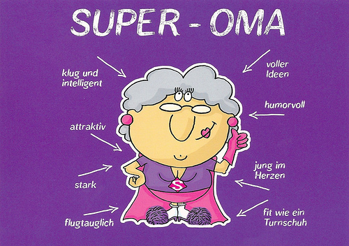 Comics Super Oma Grandma From Germany Clipart