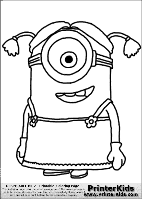 despicable me two coloring pages - photo#24