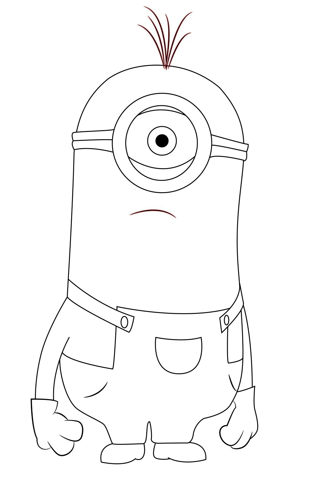 minion black and white clipart clipart suggest