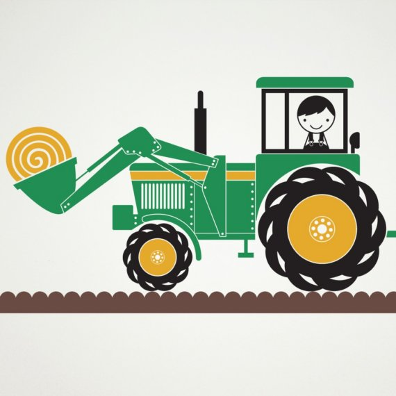 Hay Farmer Tractor Cartoon : Hay wagon clipart suggest