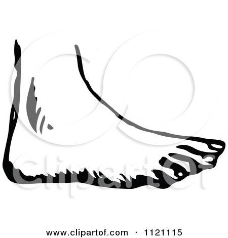 foot clip art black and white � cliparts