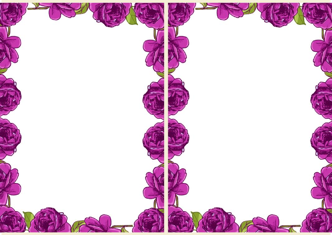 Purple Rose Border Clipart - Clipart Kid
