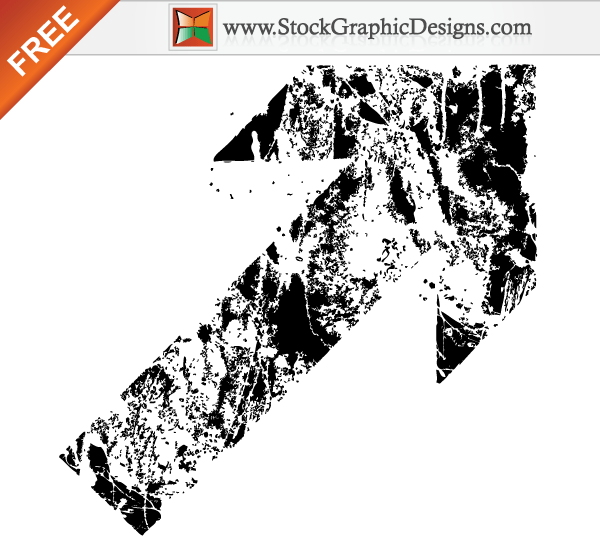 Free Grunge Destroyed Arrow Vector   Download Free Vector Art   Free