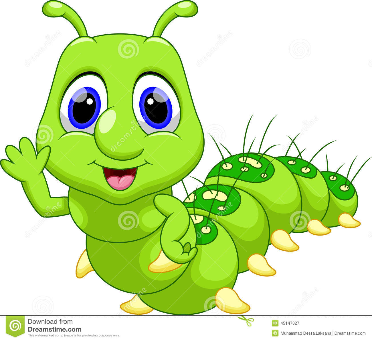 Funny Caterpillar Cartoon