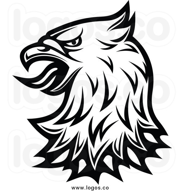 Hawk Black And White Clipart - Clipart Suggest