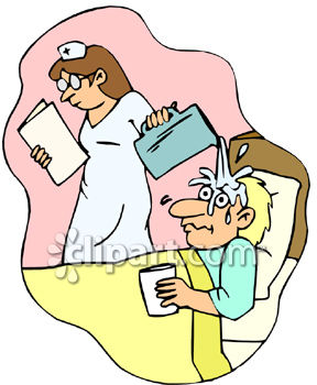 Nurse With Patient Clipart