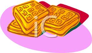 Pile Of Waffles   Royalty Free Clipart Picture
