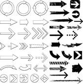 Vector Grunge Brush Arrows Stock Illustrations   Gograph