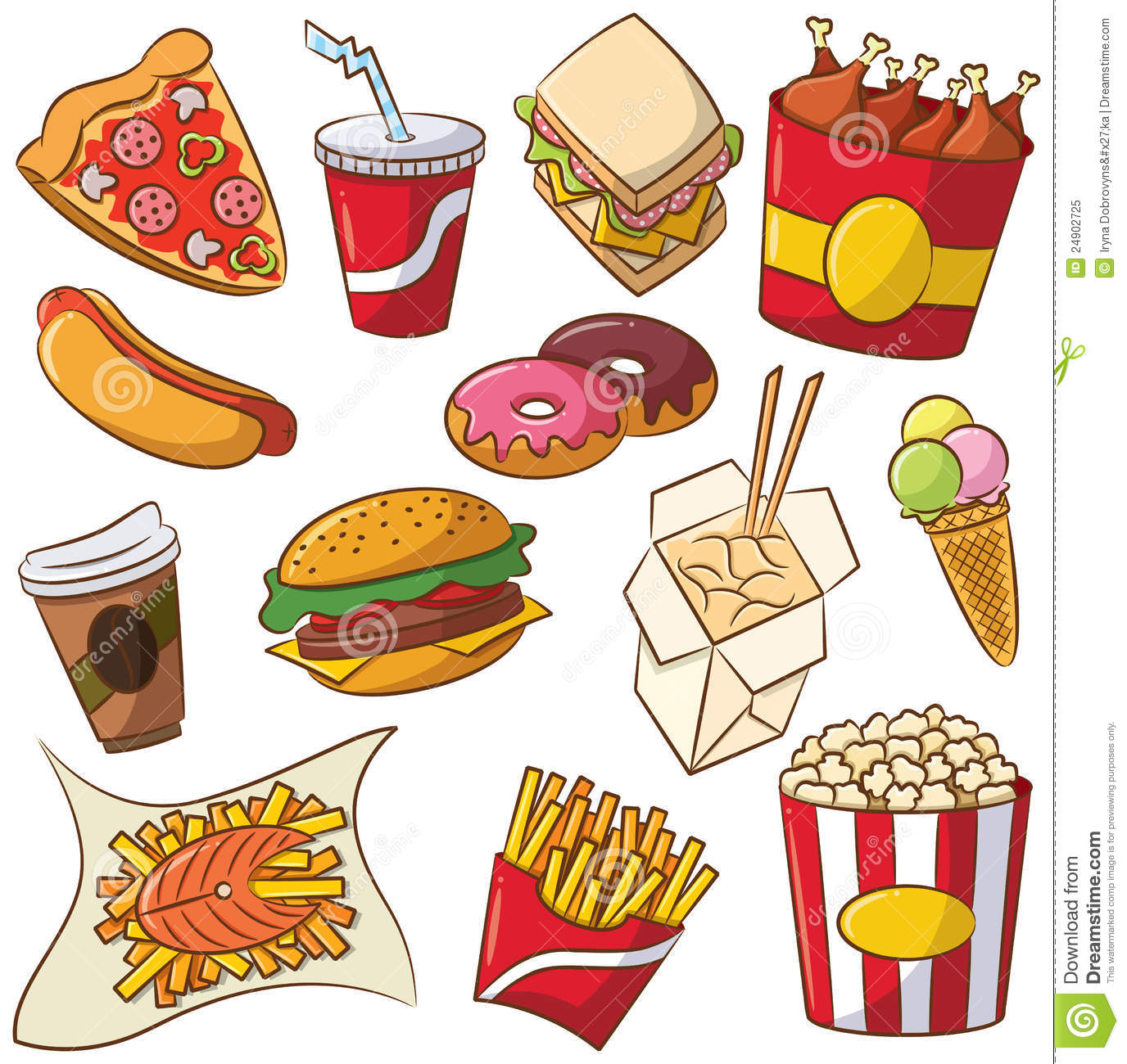 Foods That Are Good for You Clip Art