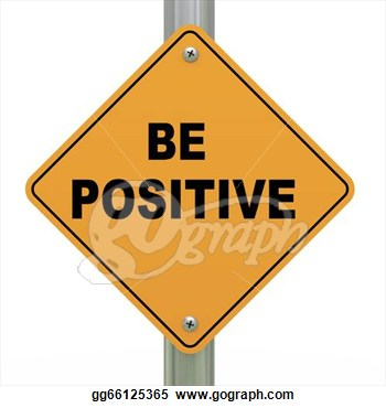 Clipart   3d Illustration Of Yellow Roadsign Of Be Positive  Stock