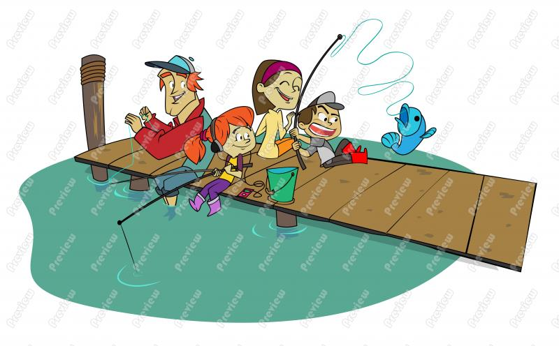 Family Fishing Clipart - Clipart Kid