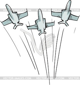 Fighter Aircraft   Vector Clipart
