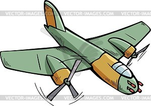 Fighter Aircraft   Vector Clipart   Vector Image