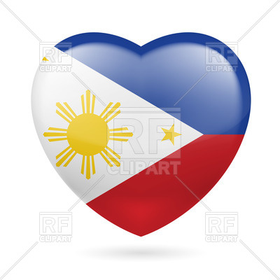 Heart With Filipino Flag Colors  I Love Philippines Download Royalty