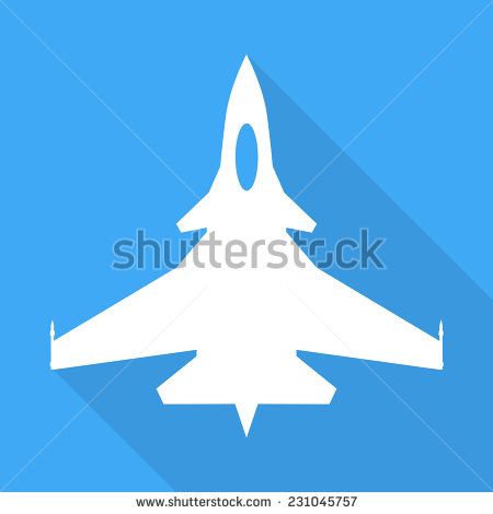 Jet Fighter Aircraft Sign Stock Vector Clipart