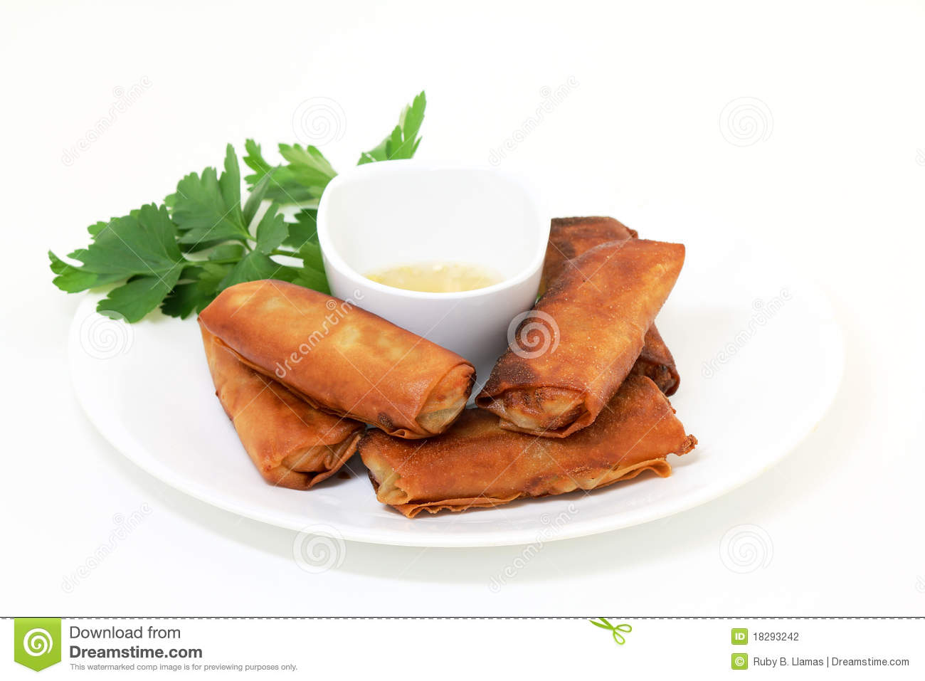Lumpia Spring Rolls   Filipino Food Stock Photography   Image